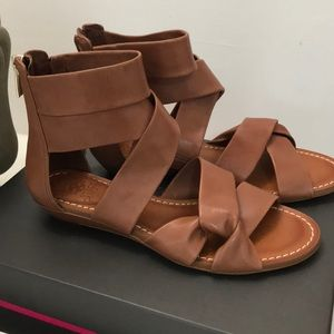 Strappy zip up sandals